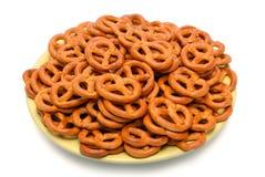 Pretzels on saucer Stock Image
