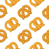 Pretzels seamless vector pattern Royalty Free Stock Photography