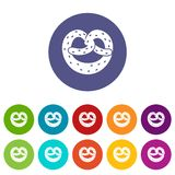 Pretzels set icons Royalty Free Stock Image