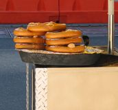 Pretzels on street stand Royalty Free Stock Images