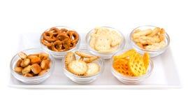 Pretzels on tray Stock Photos