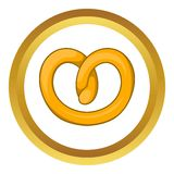 Pretzels vector icon Royalty Free Stock Image