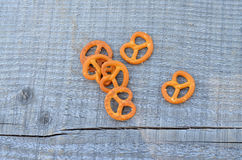 Pretzels on wood Royalty Free Stock Images