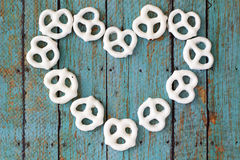Pretzels on wooden background Royalty Free Stock Photo