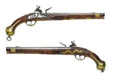 Preussische antike Flintlockpistole Stockfotografie