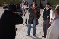 Épreuve de force dans le vieil ouest Photo libre de droits