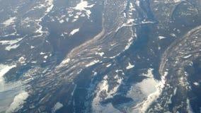 Preuves d'activité géologique de large échelle Photos stock