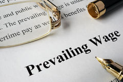 Prevailing wage concept. royalty free stock images