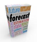 Prevea el pronóstico del futuro de la caja de las palabras 3d de la predicción de la perspectiva stock de ilustración