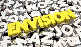 Prevea la idea 3d Illustrat de la estrategia del plan de la creatividad de las letras de la palabra stock de ilustración