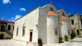 Preveli修道院在克利特 免版税库存图片