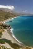 Preveli海滩,在南克利特,希腊 免版税库存照片
