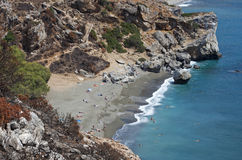 Preveli beach Stock Images