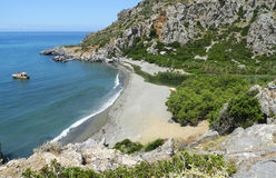 Preveli beach from above Royalty Free Stock Photography
