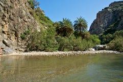 Preveli beach, Crete Royalty Free Stock Image