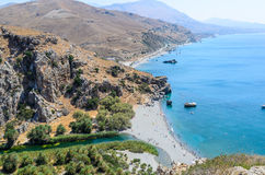 Preveli Beach Royalty Free Stock Photo