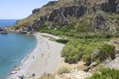 Preveli Beach Royalty Free Stock Photography