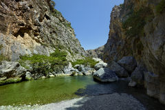 Preveli canyon Royalty Free Stock Photos