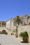 Preveli kloster i Crete, Grekland Arkivbild