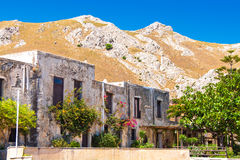 Preveli Monastery. Ancient buildings in Preveli Monastery, Crete, Greece Stock Images