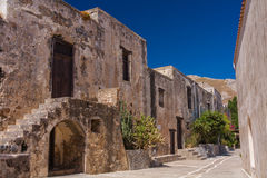 Preveli Monastery. Ancient buildings in Preveli Mnastery, Crete, Greece Stock Image