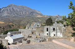 Preveli monastery at Crete in Greece Royalty Free Stock Photo