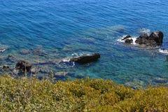 Preveli strand, Creta, Grekland Arkivbilder