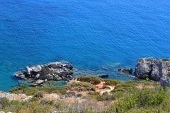 Preveli strand, Creta, Grekland Royaltyfria Bilder