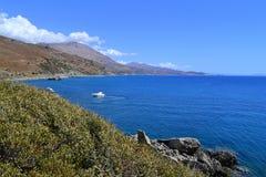 Preveli strand, Creta, Grekland Royaltyfri Bild