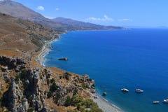 Preveli strand, Creta, Grekland Royaltyfri Foto