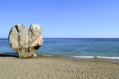 Preveli strand i Crete, Grekland Royaltyfria Foton