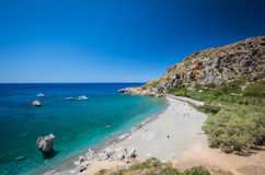 Preveli-Strand in Kreta-Insel, Griechenland Lizenzfreie Stockfotografie