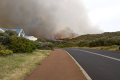 prevelly海滩bushfire 免版税库存图片