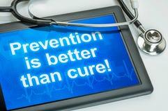 A prevenção é melhor do que a cura fotografia de stock royalty free