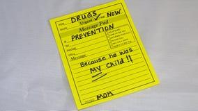 Prevenção da adição da droga Imagem de Stock Royalty Free