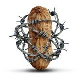 Prevenção da alergia de alimento ilustração do vetor