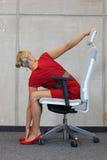 Prevenção da doença profissional do escritório Foto de Stock Royalty Free