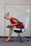 Prevenção da doença profissional do escritório Fotografia de Stock Royalty Free