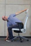 Prevenção da doença profissional do escritório Fotos de Stock Royalty Free
