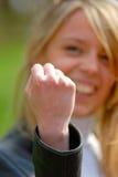 Prevenção do gesto, ameaça Fotos de Stock