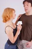 Prevención con el preservativo Foto de archivo libre de regalías