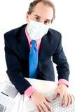 Prevención de la gripe en el trabajo Imágenes de archivo libres de regalías