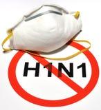 Prevención de la gripe H1N1 Foto de archivo