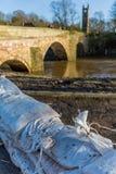 Prevención de la inundación imagen de archivo