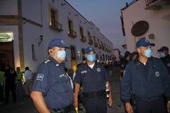 Prevención de swineflu en México Fotos de archivo libres de regalías