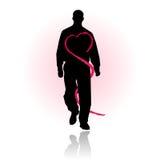 Prevención del cuidado médico del amor o del corazón Foto de archivo