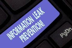 Prevención del escape de la información de la escritura del texto de la escritura Significado del concepto que inhibe la informac imagen de archivo libre de regalías