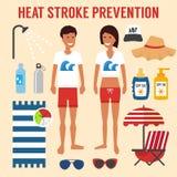 Prevención del movimiento de sol del calor stock de ilustración