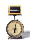 Prevención en una escala antigua fotografía de archivo