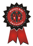 Prevent aids. Badge isolated on white background Stock Images